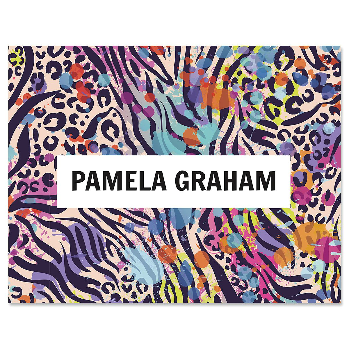Wild Child Animal Print Note Cards