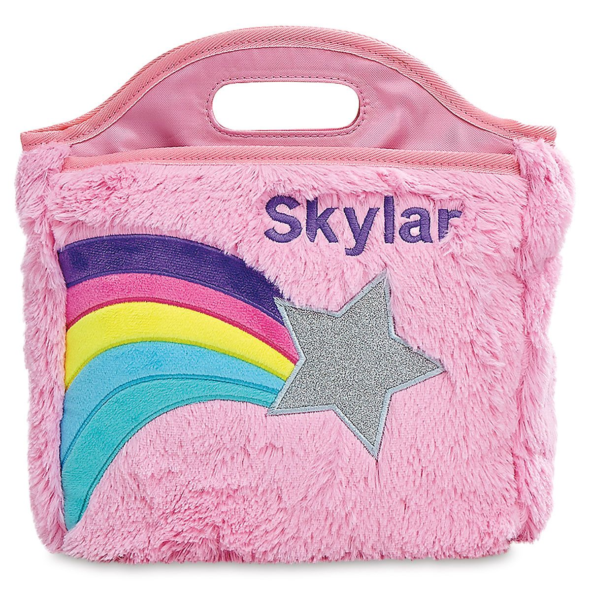 Personalized Furry Shooting Star Lunch Bag