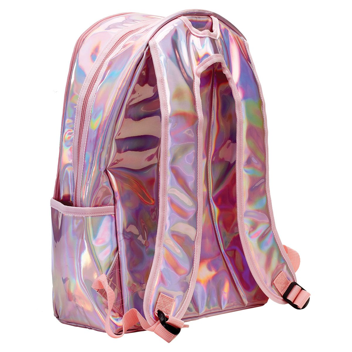 Personalized Pink Holographic Backpack