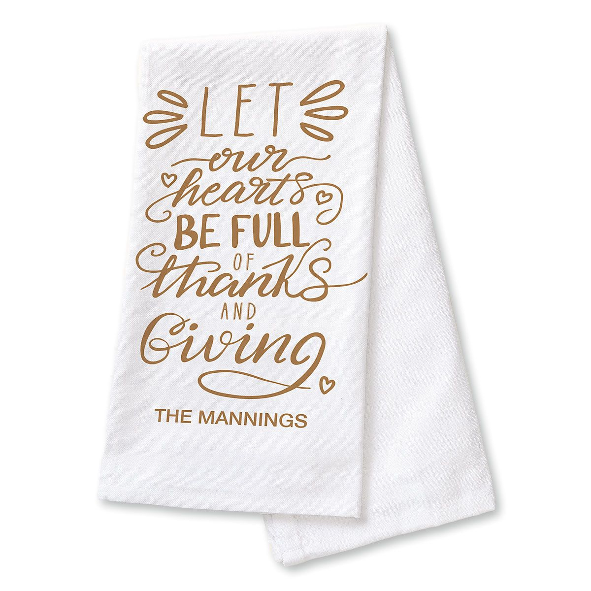 Personalized Thanks & Giving Dish Towel