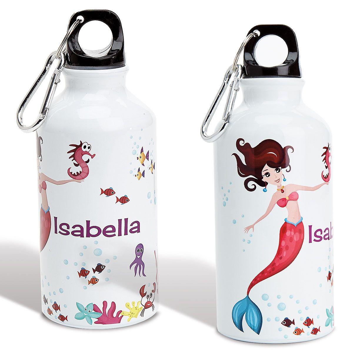 Personalized Mermaid Water Bottle