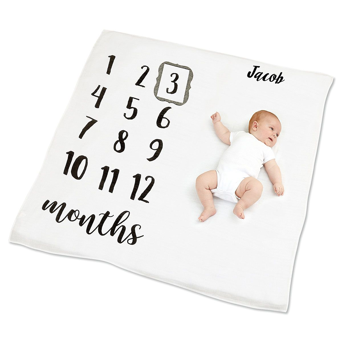 Personalized Monthly Milestone Blanket