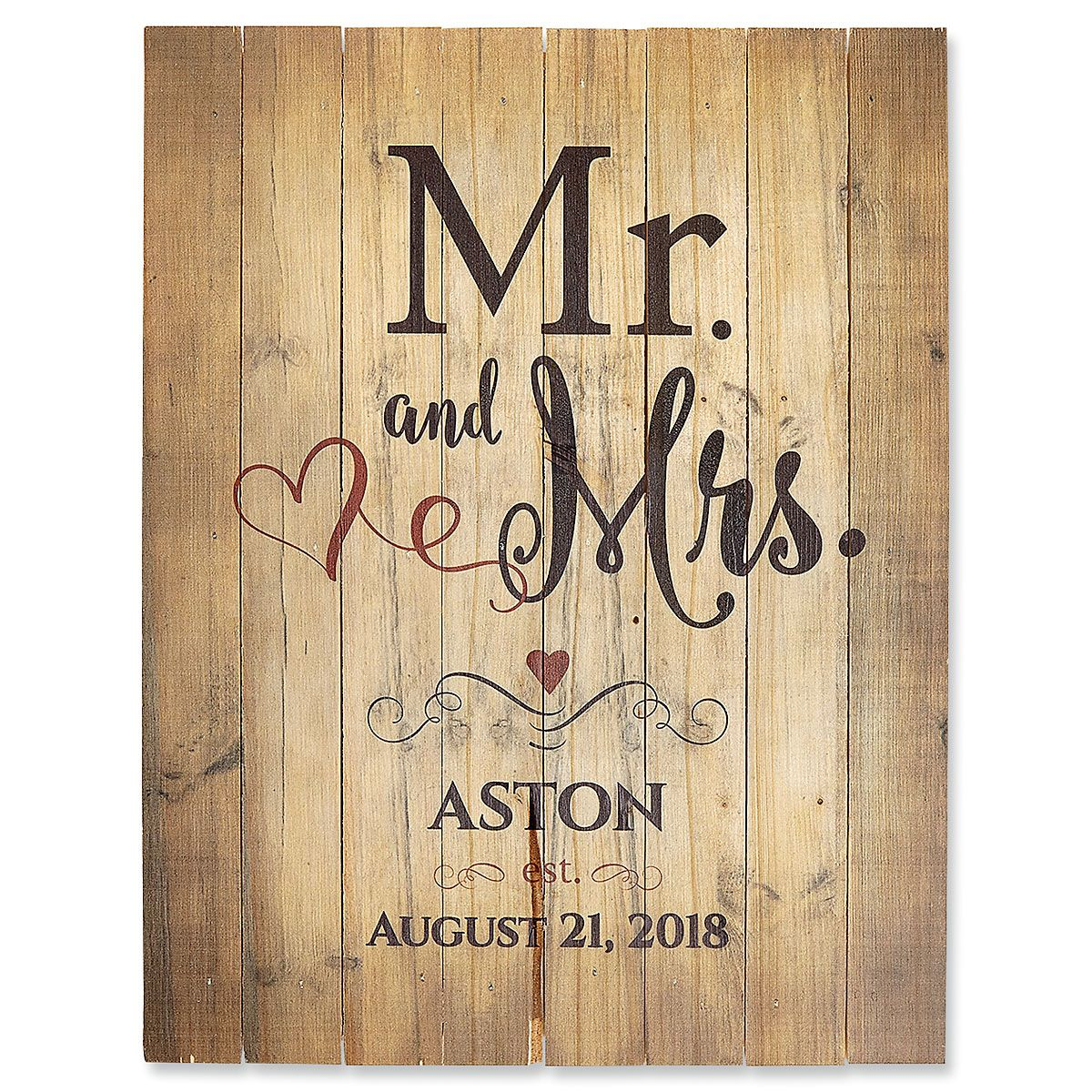 Personalized Mr. and Mrs. Plaque