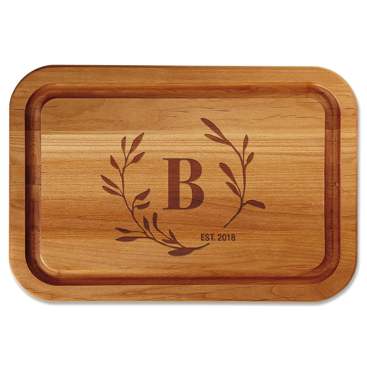 Personalized Circle Laural Cutting Board