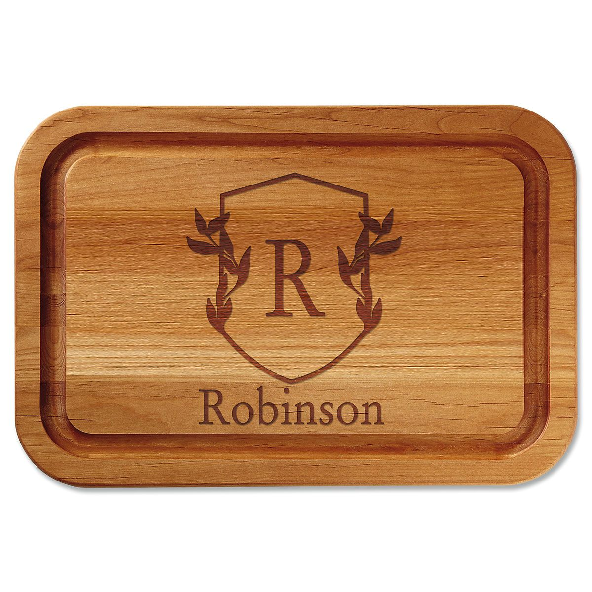 Personalized Scholar Crest Cutting Board