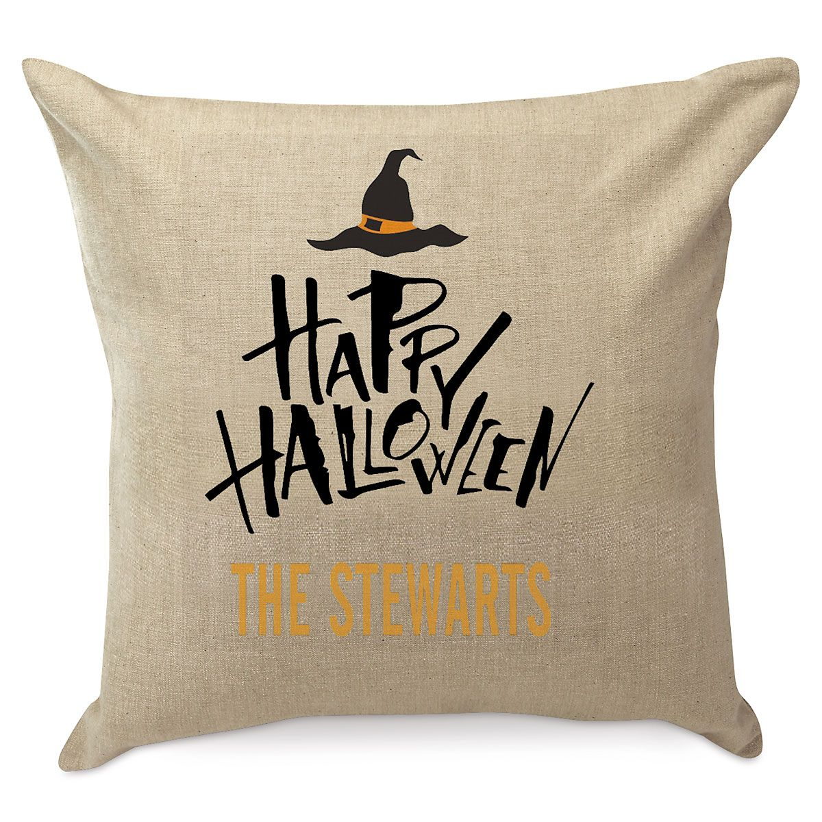 Personalized Halloween Witch Pillow