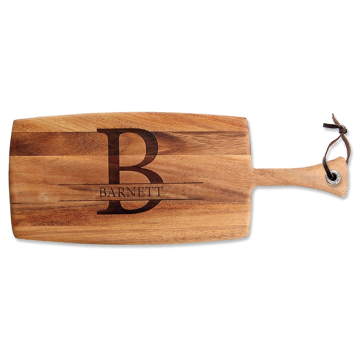 Personalized Initial & Name Paddle Cutting Board