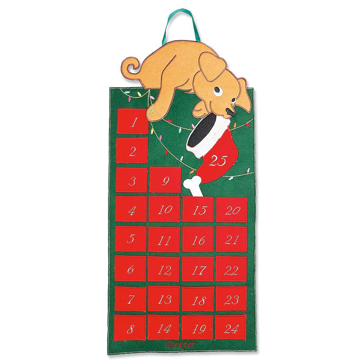 Personalized Christmas Dog Calendar