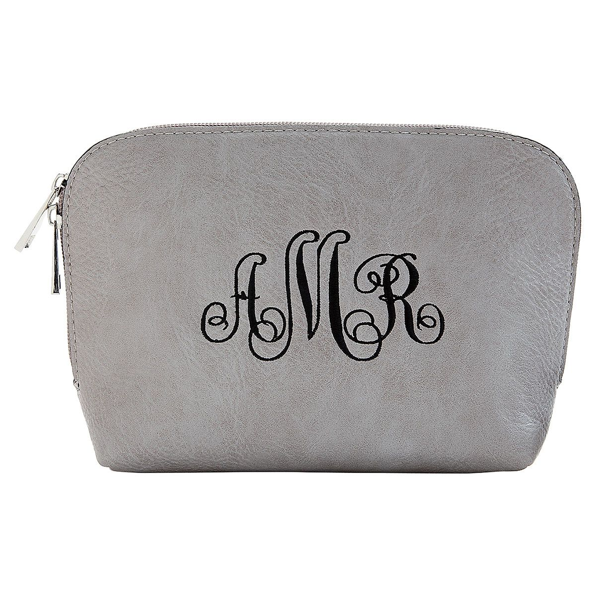 Personalized Grey Cosmetic Bag