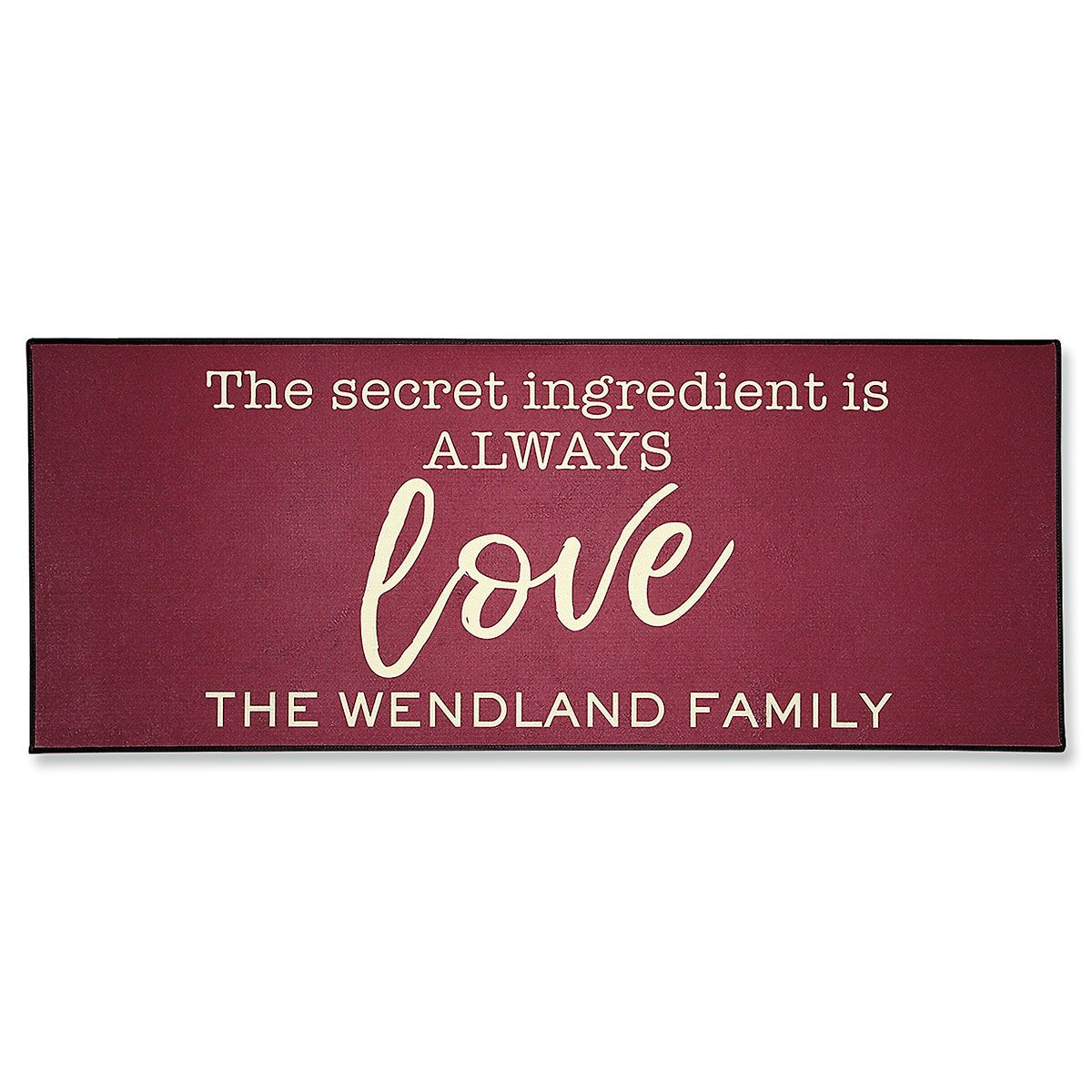 Personalized Love Double Door Mat