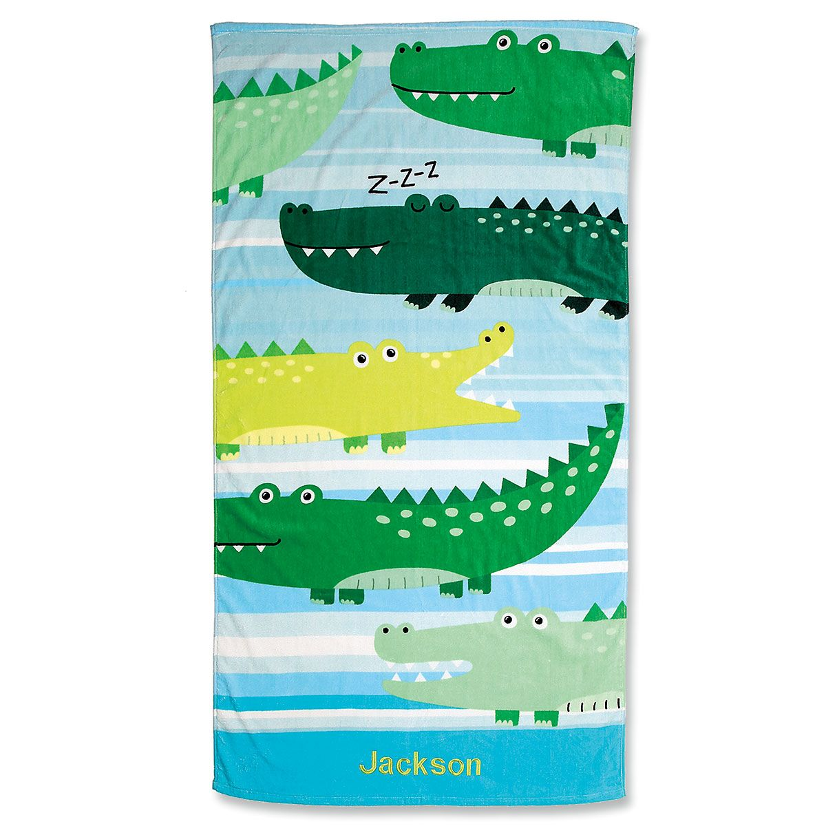 Alligator Personalized Towel