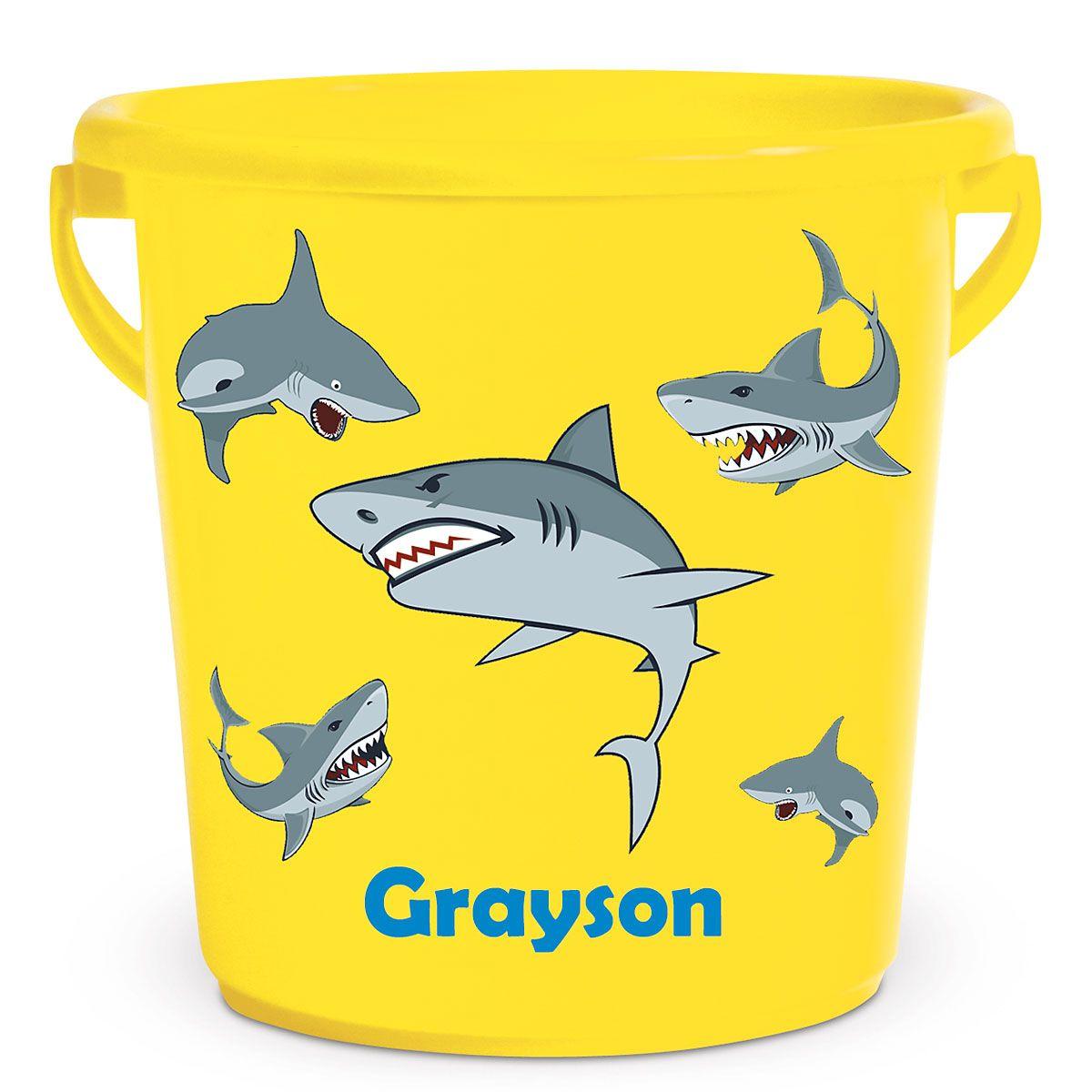 Personalized Kids Beach Bucket - Sharks