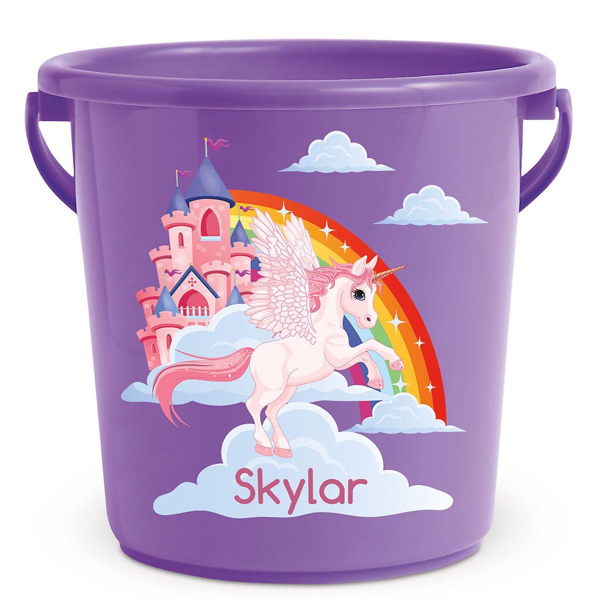 Personalized Kids Beach Bucket - Unicorn