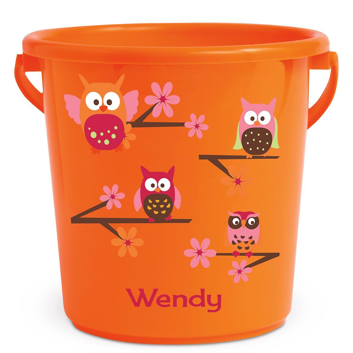 Personalized Kids Beach Bucket - Owl