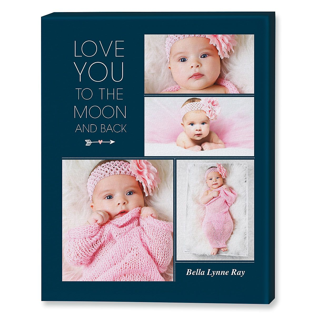 Love You Collage Photo Canvas