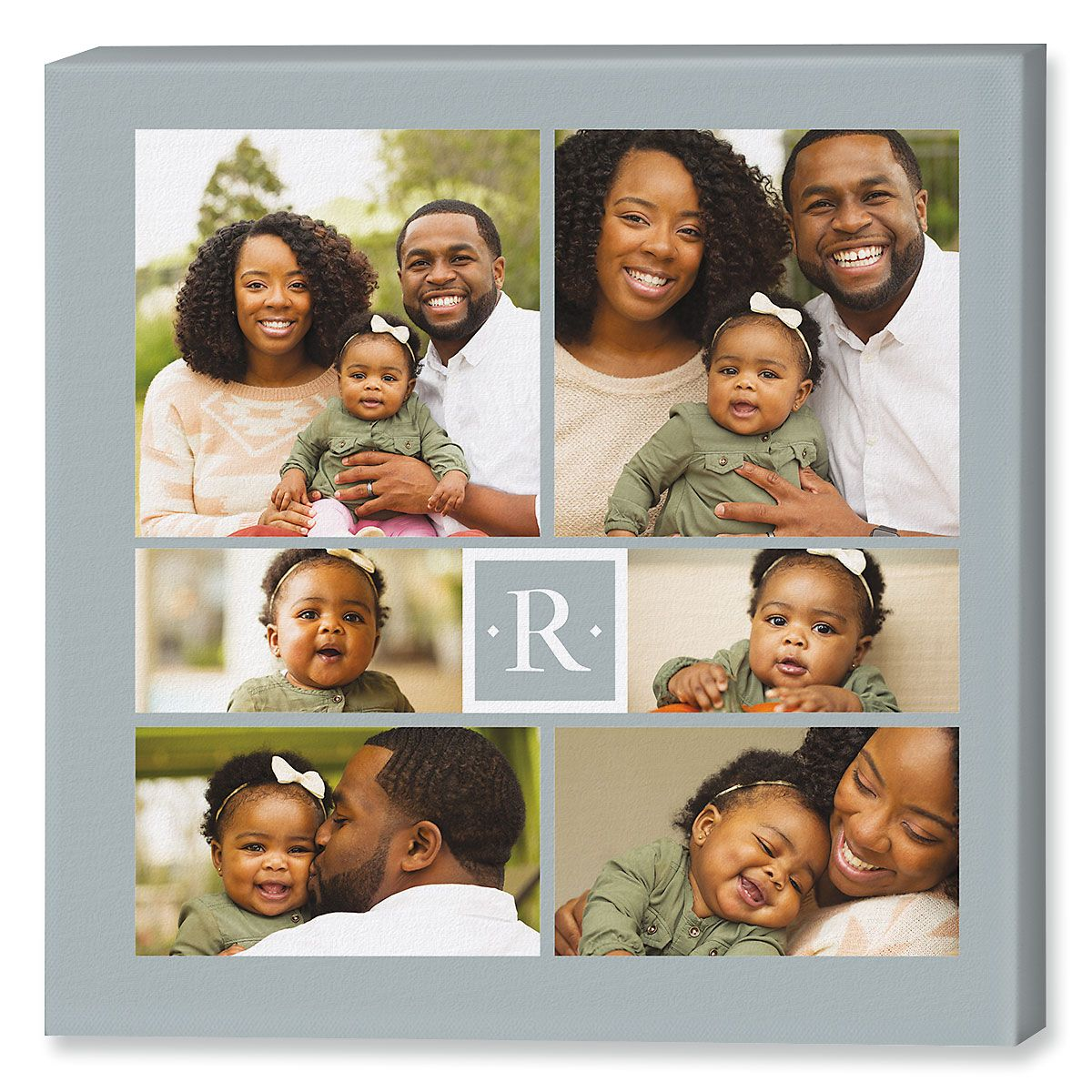 Monogram Collage Photo Canvas