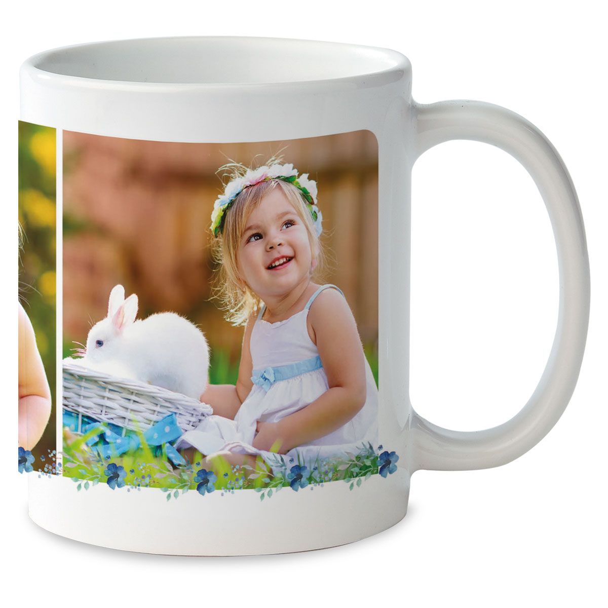 Floral Initial Ceramic Photo Mug