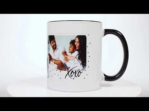 Family Hearts Ceramic Photo Mug