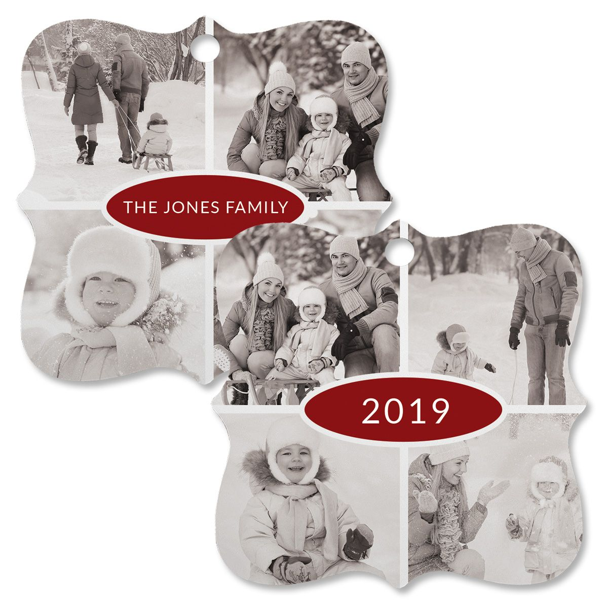 Year Photo Ornament - Square Bracket 4