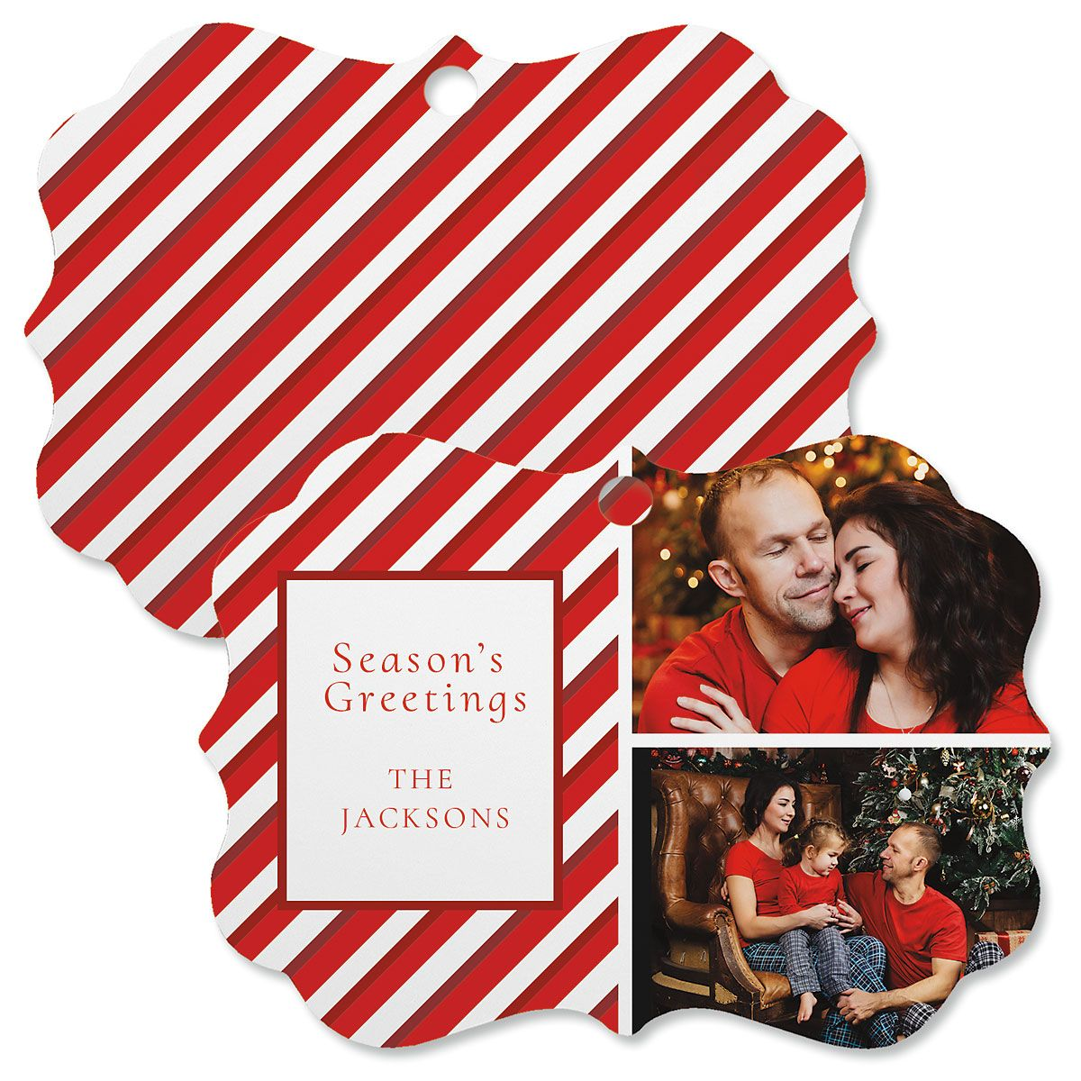 Candy Cane Photo Ornament - Bracket 2