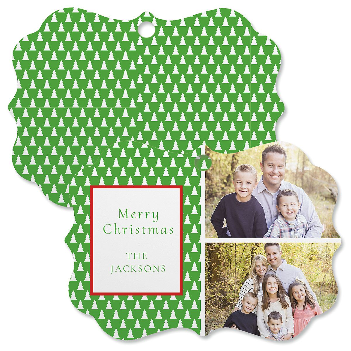 Green Tree Photo Ornament - Bracket 2