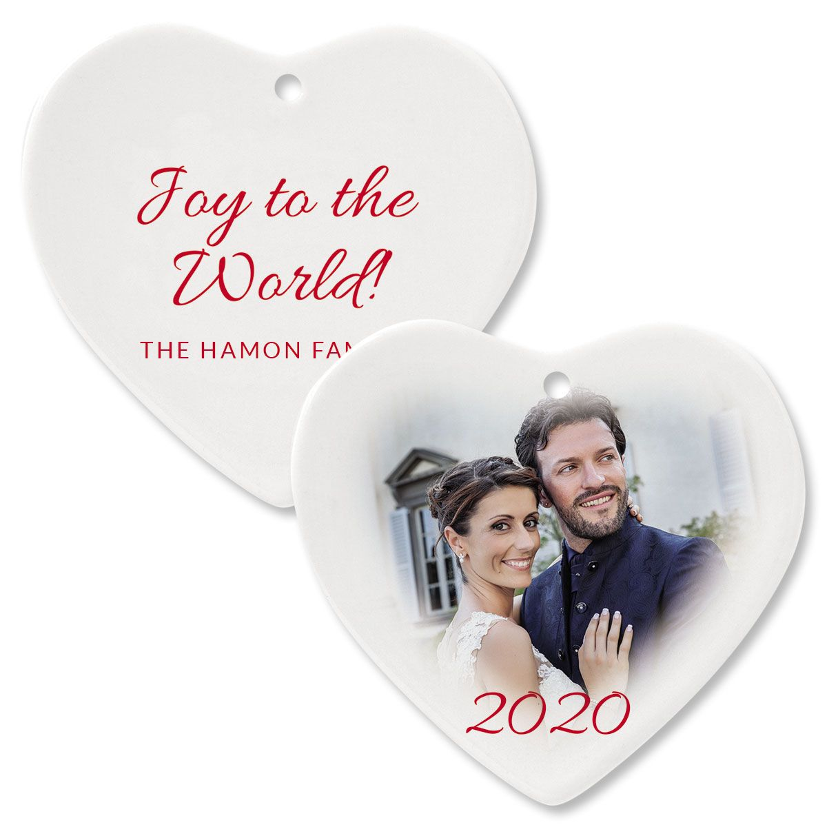 Joy Photo Ornament – Heart