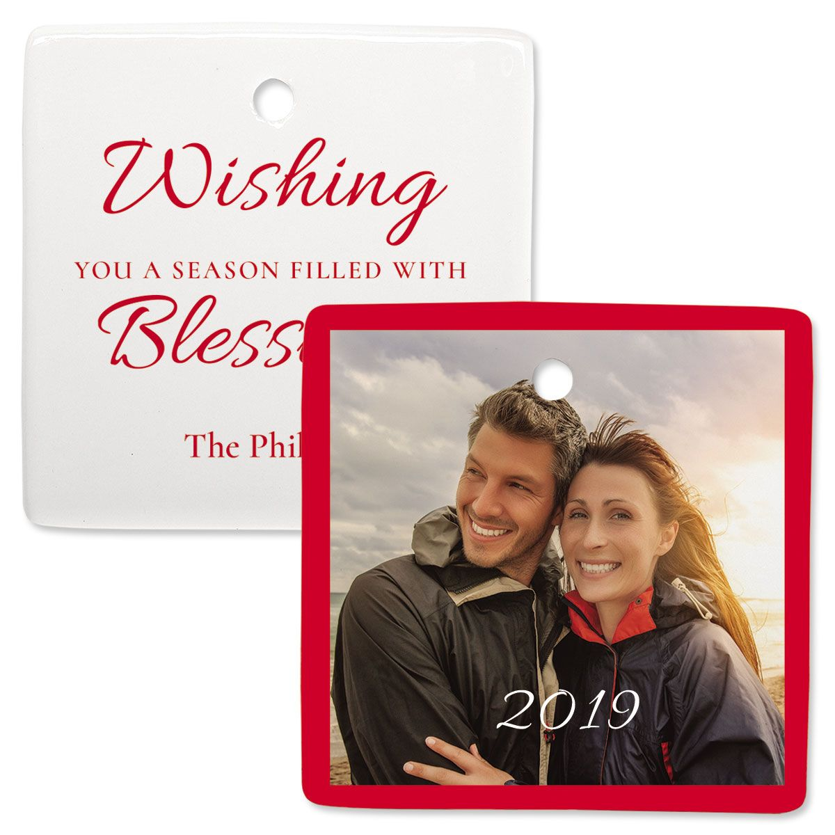 Blessings Photo Ornament – Square