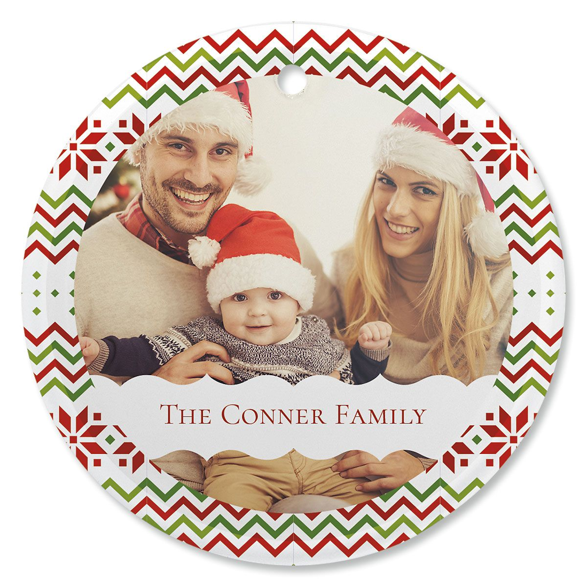 Sweater Photo Ornament - Glass Round