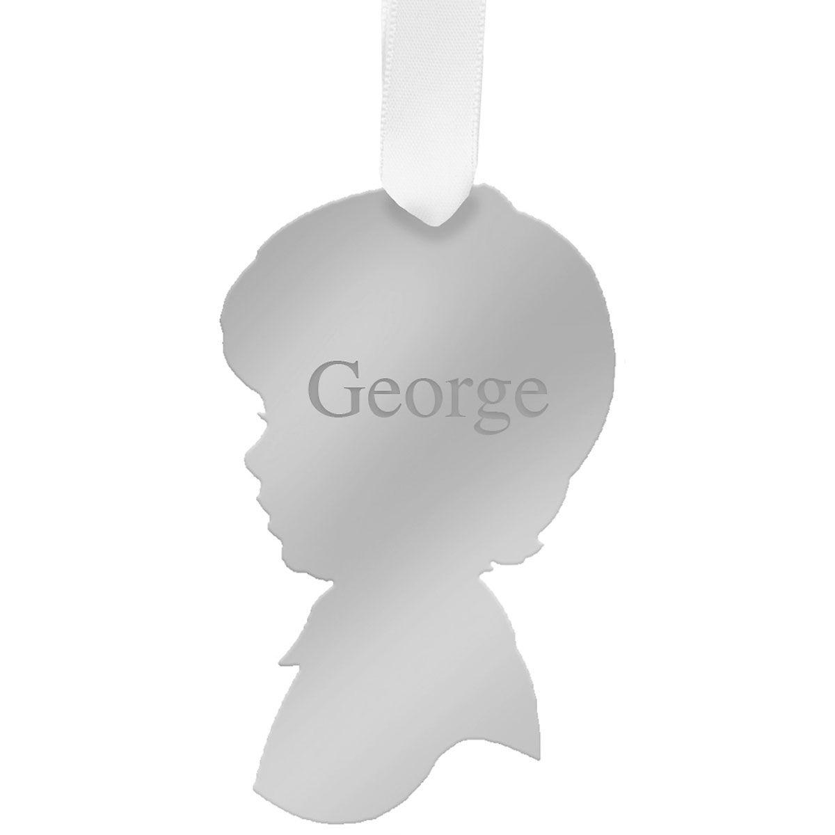 Personalized Boy Silhouette Acrylic Ornament