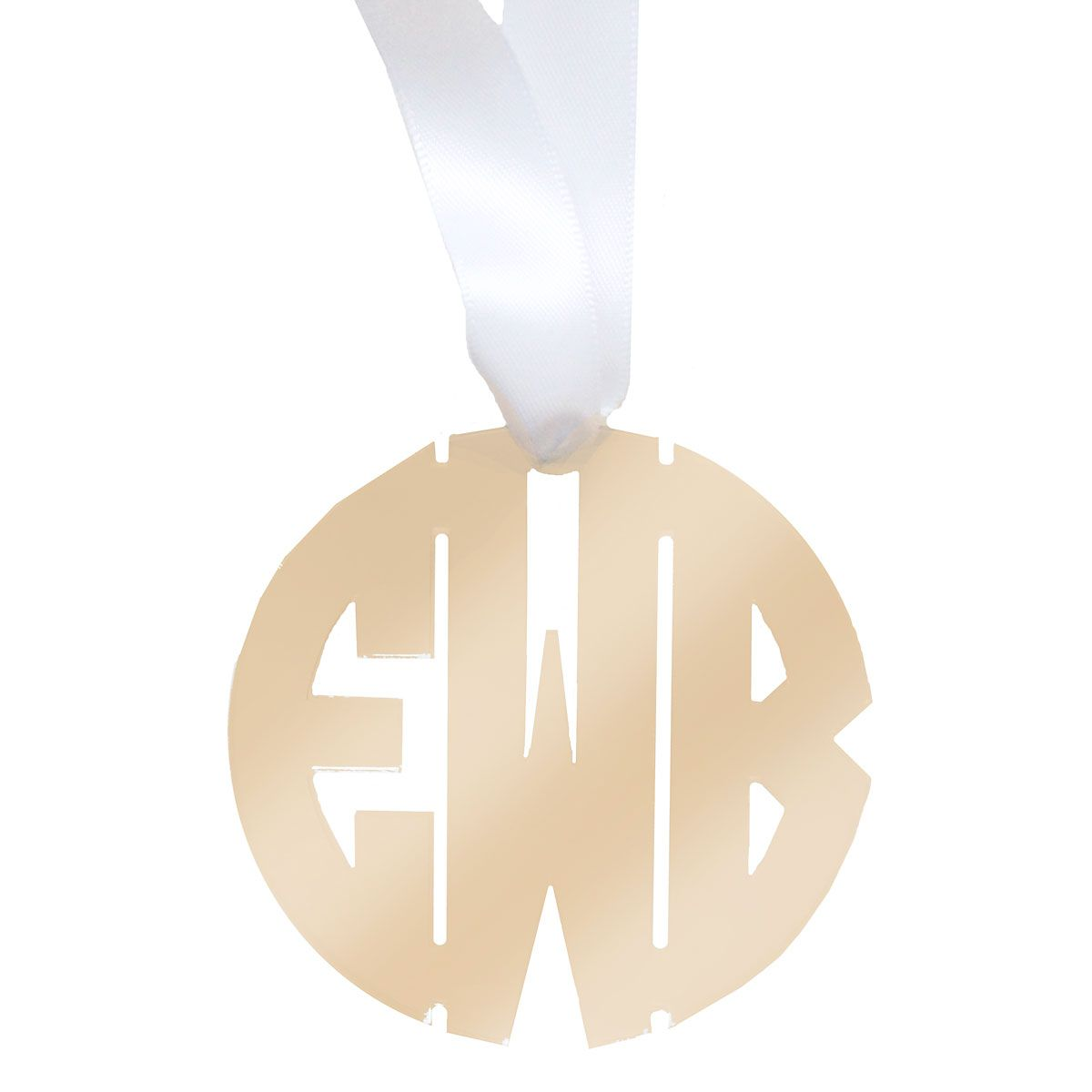 Personalized Monogram Acrylic Ornament