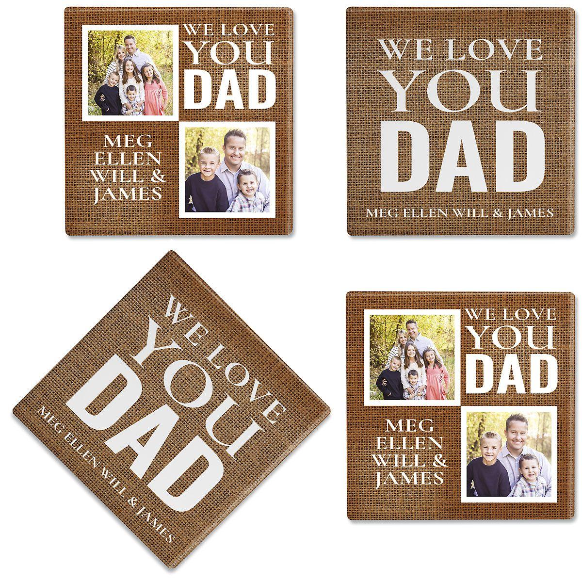 Burlap Photo Coasters