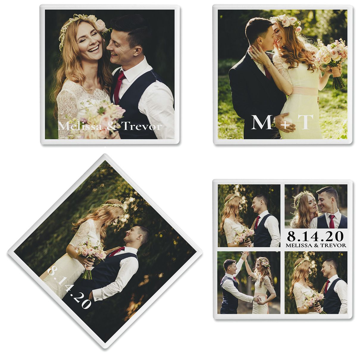 Nuptial Photo Coasters
