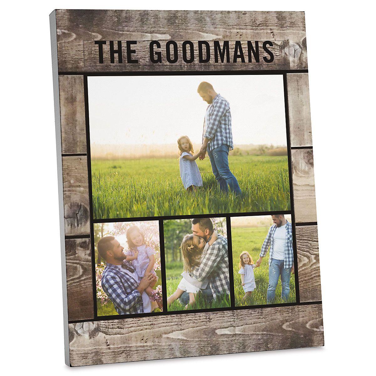 Wood Slats Photo Plaque
