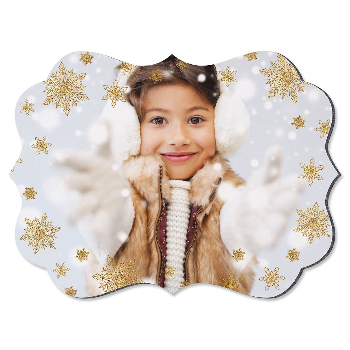 Glitter Snowflake Benelux Photo Plaque
