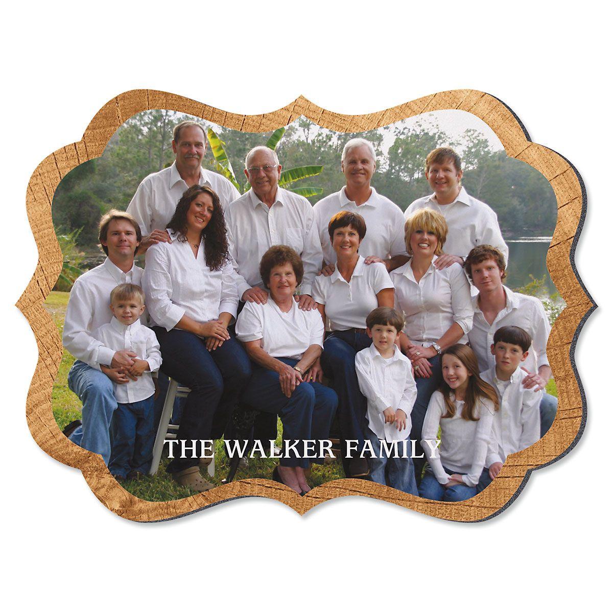Midtone Wood Family Name Benelux Photo Plaque