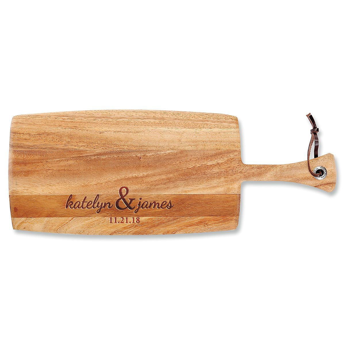 Personalized Couples First Paddle Cutting Board