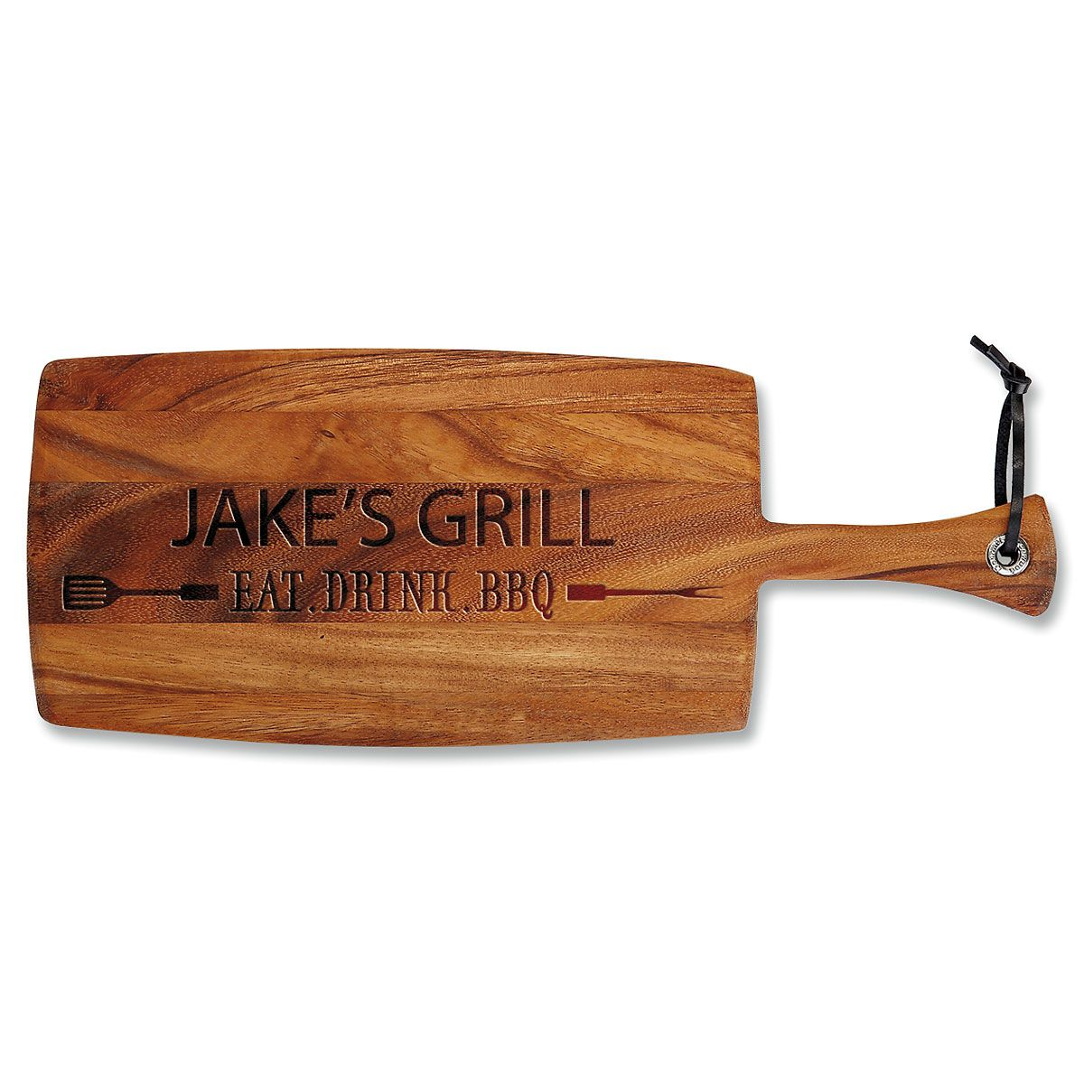 Personalized Eat, Drink, BBQ Paddle Cutting Board