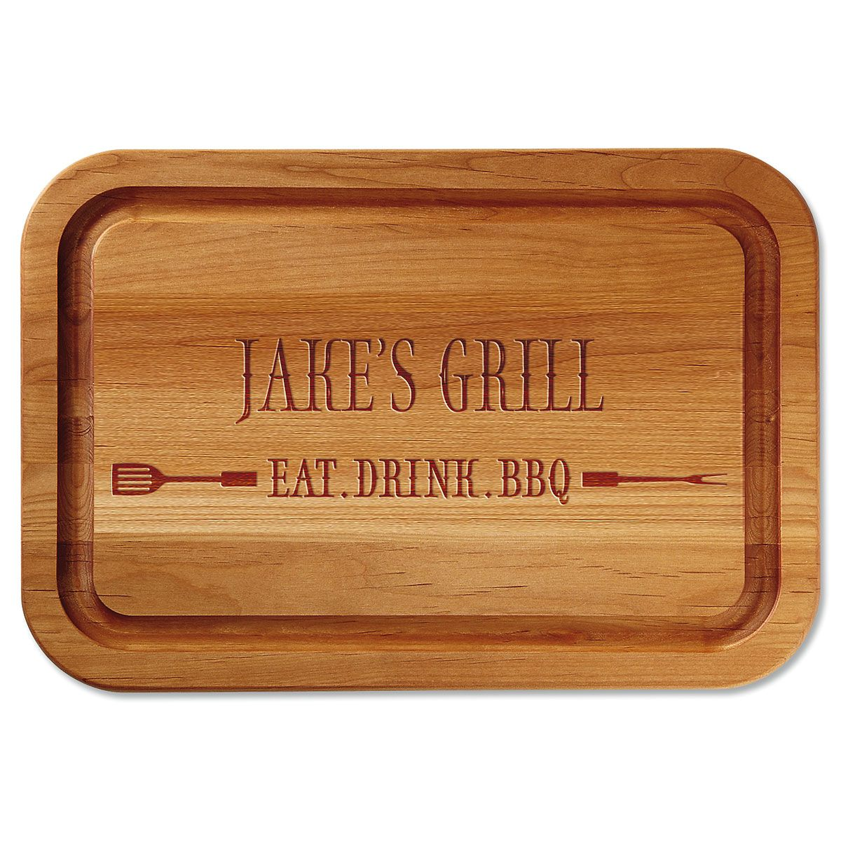 Personalized Eat, Drink, BBQ Wood Cutting Board