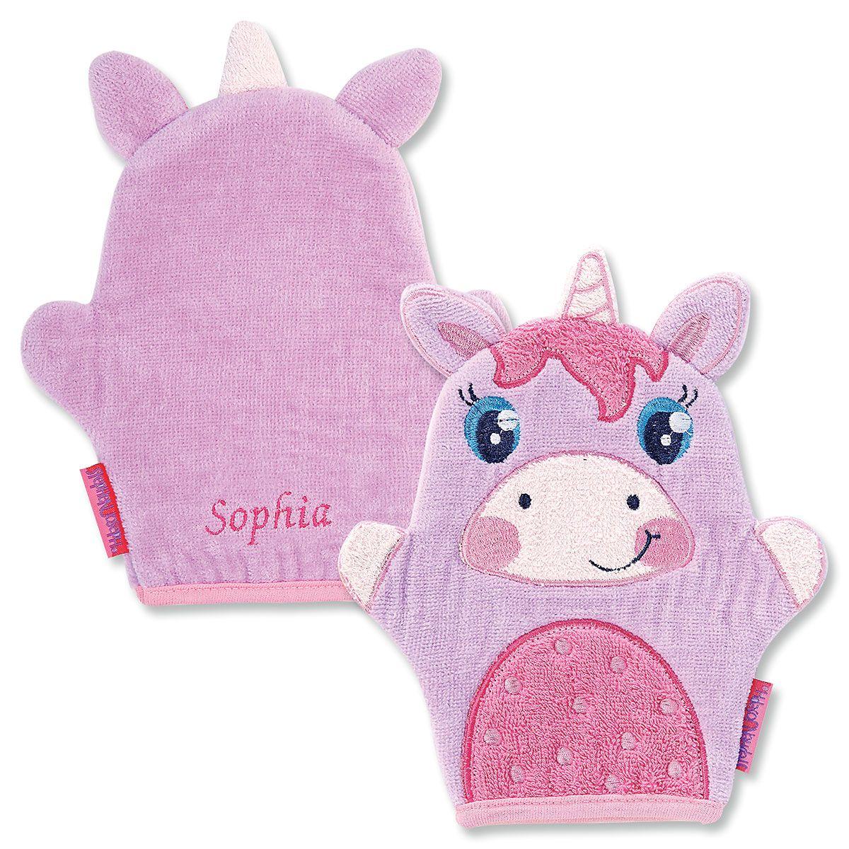 Personalized Unicorn Bath Mitt by Stephen Joseph®