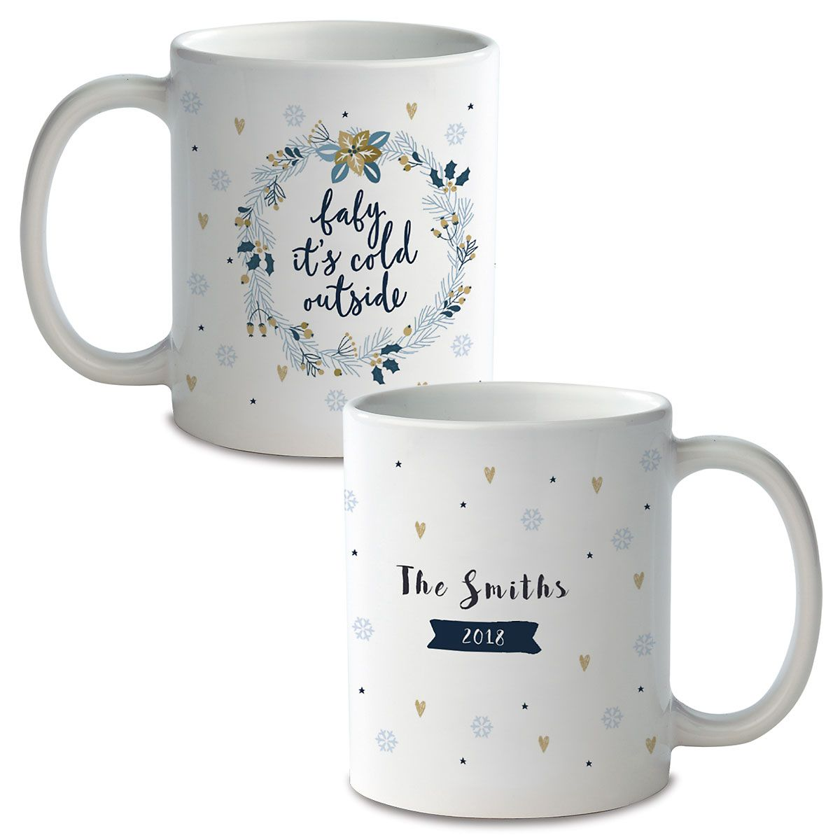 Baby It's Cold Personalized Ceramic Mug