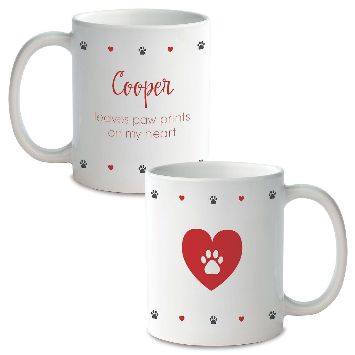 Paw Print Personalized Ceramic Mug