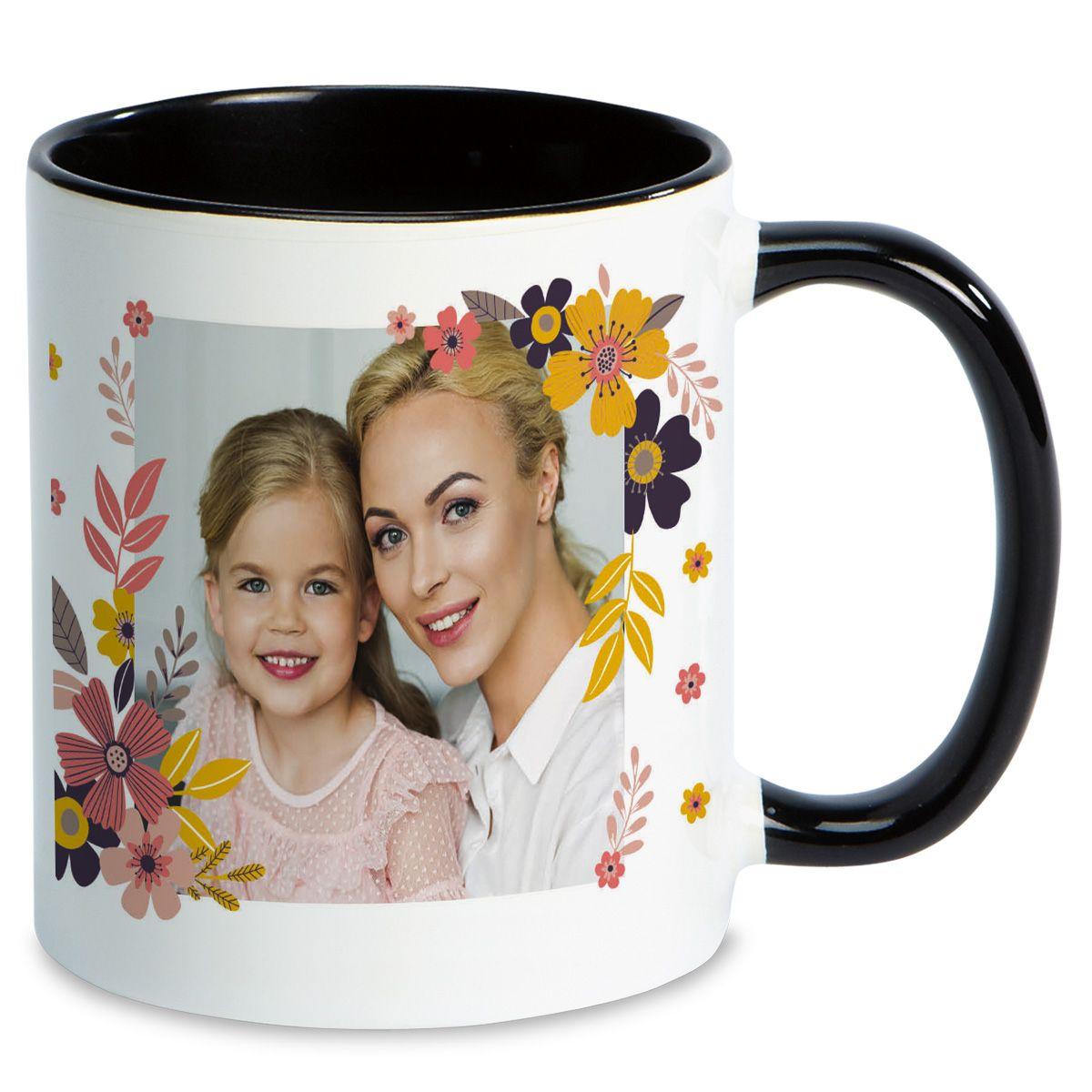 Floral Ceramic Photo Mug