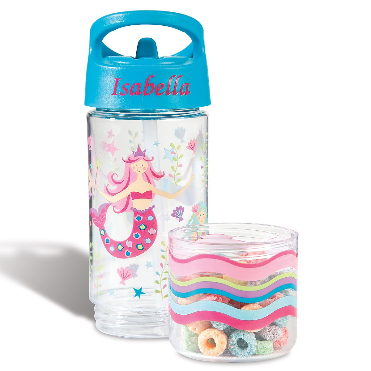 Personalized Mermaid Sip & Snack Bottle by Stephen Joseph®