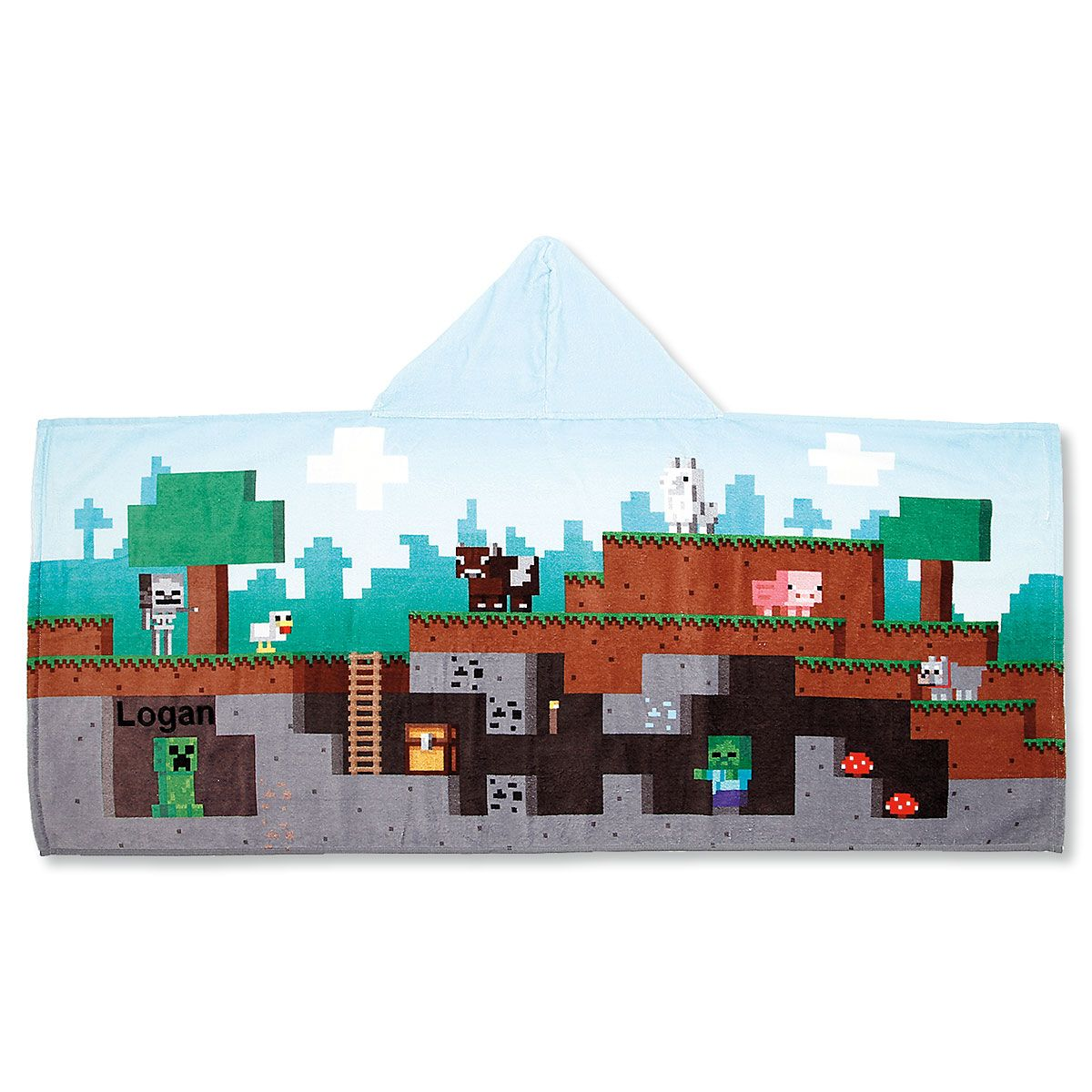 Personalized Minecraft Hooded Towel