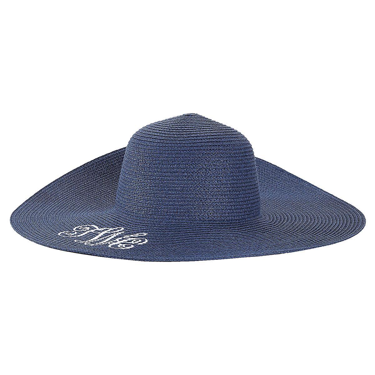 Personalized Navy Floppy Hat