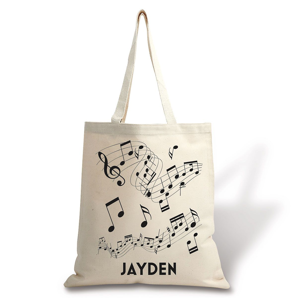 Personalized Canvas Music Tote