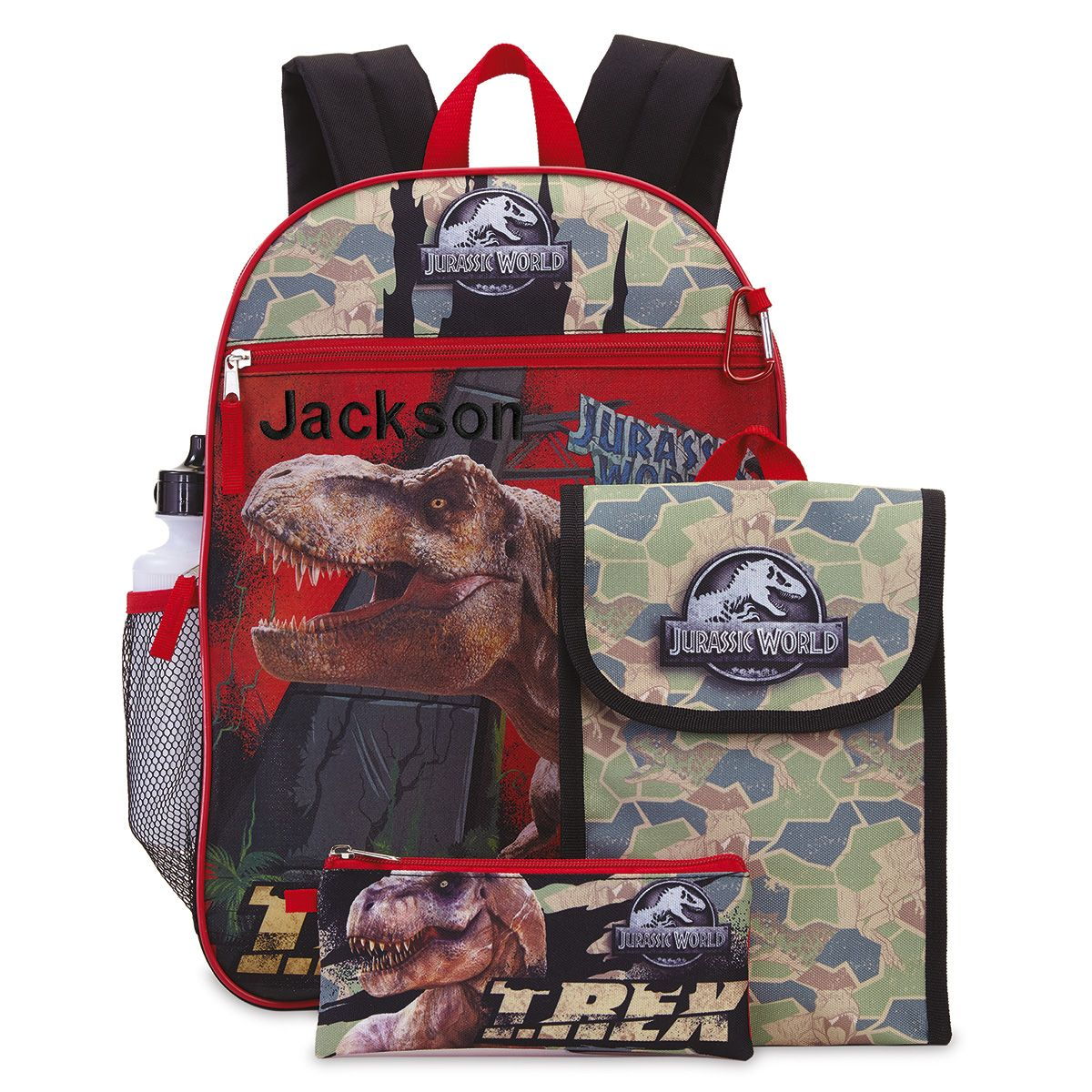 Personalized 5-in-1 Jurassic World Backpack Set