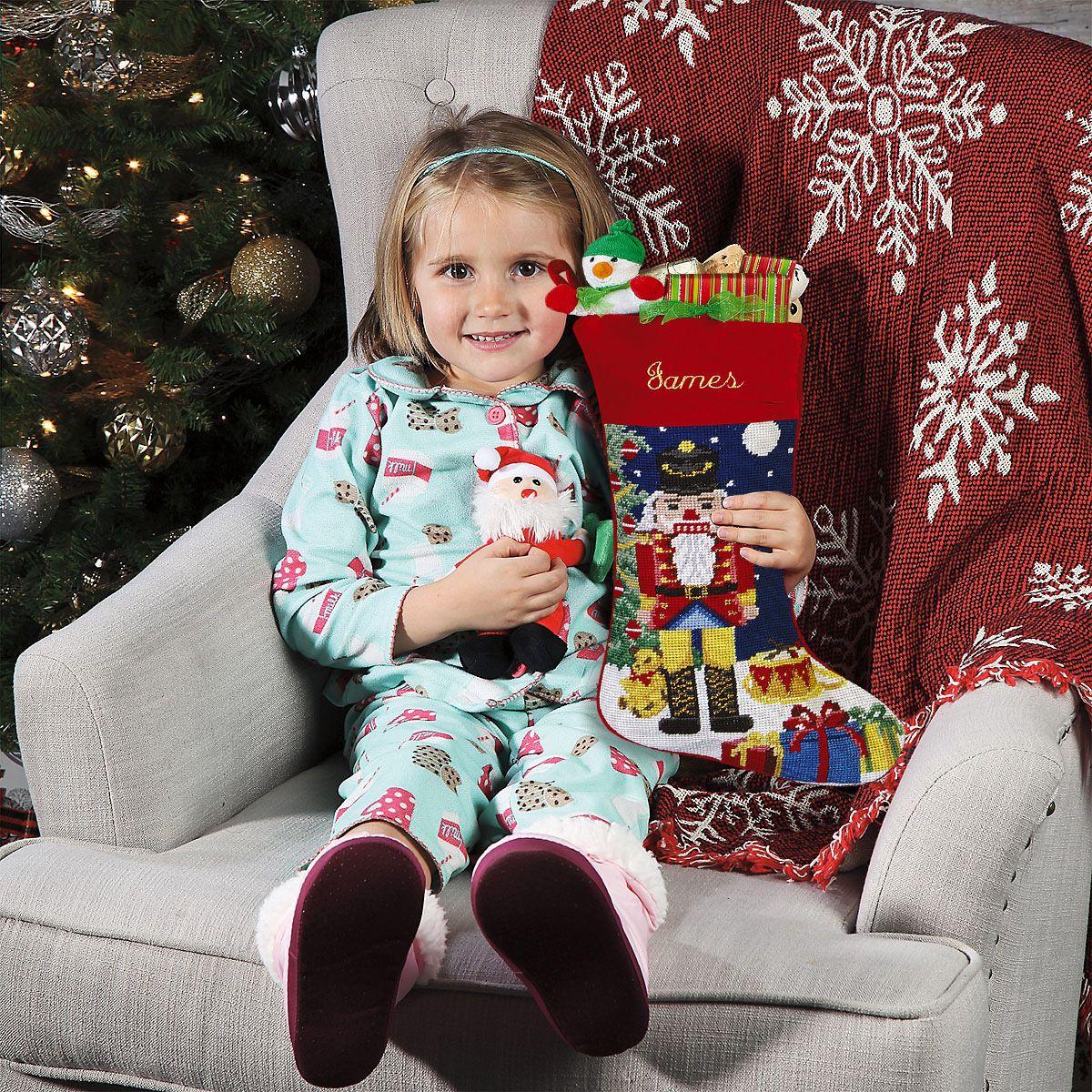 Nutcracker Heirloom Needlepoint Personalized Christmas Stocking