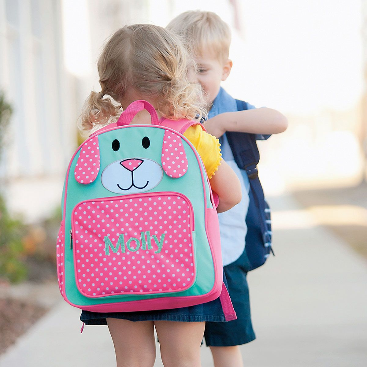 Pink Pup Personalized Preschool Backpack