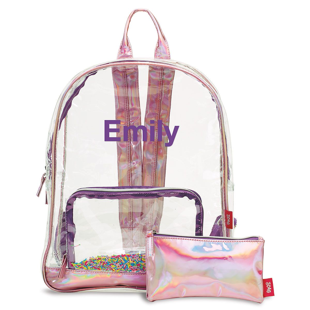 Personalized Sprinkles Clear Backpack